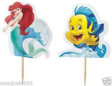 Disney Princess Little Mermaid Ariel Fun Pix Cupcake Picks 24pcs Cake Toppers