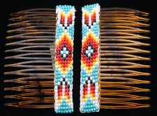 Native American Navajo Handmade Beaded Hair Combs