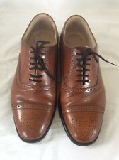 Mens James Mark VINTAGE Conker Brown Leather Brogues. size 6.5