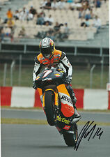 Randy de Puniet Hand Signed Repsol Aprilia 250cc 2005 12x8 Photo 1.