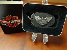 HARLEY DAVIDSON LOGO & WINGS ZIPPO KEY RING MINT IN BOX HARD TO FIND 5436HD H214