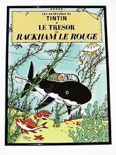 TINTIN AFFICHE GRANDE LE TRÉSOR DE RACKHAM ROUGE/REQUIN 70 x 50 cm NEUF RARE