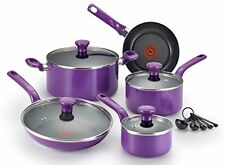 NEW! T-fal Excite Nonstick Oven Safe PFOA Free Cookware Set, 14-Piece, (Purple)