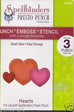 Spellbinders Presto Punch Templates Hearts for punching, embossing and stencil