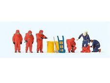 Preiser 10730 H0 Figuren Feuerwehrmänner Roter Vollschutzanzug Zubehör