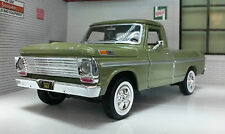 G LGB 1:24 Scale Ford F100 Pickup Ute Van 1969 Green Truck Diecast Model