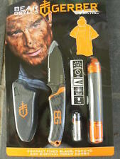 Gerber Bear Grylls Survival Compact Knife Torch and Poncho Combo 2493 Au Seller