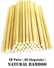 Traditional Chinese Bamboo Wooden Chopsticks Hashi 40 Pairs Individually Wrapped