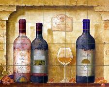 Wine Bottle Art Mural Ceramic Backsplash Tile #422