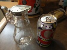 ANTIQUE GLASS SYRUP TABLETOP PITCHER
