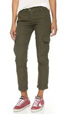 NWT WOMEN'S NSF BASQUIAT GREEN STUDDED CARGO PANT SIZE 29 $294