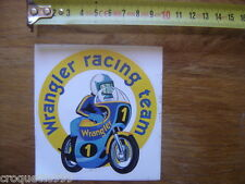 Autocollant Sticker moto WRANGLER RACING TEAM