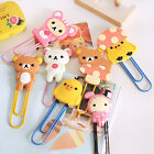 1Pc Fangle Cute Cartoon Animals Bookmarks Paper Note Pin Clips Student Paperclip