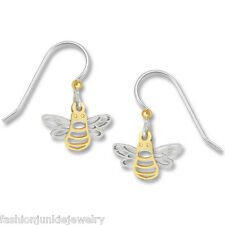 Bee Earrings - 925 Sterling Silver Ear Wires Bumble Bee Dangle Earrings NEW Bees