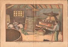 Pressoir vinicole pressurage vinification jus des raisins vin 1933 ILLUSTRATION