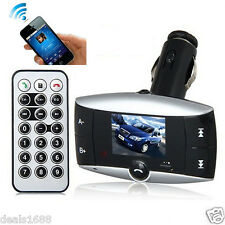 "1.5"" LCD Car Kit Bluetooth FM Transmitter Modulator MP3 Player SD MMC USB Remote"