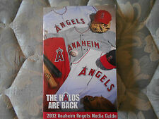 2002 ANAHEIM ANGELS MEDIA GUIDE Yearbook WORLD CHAMPIONS!! Baseball Program AD