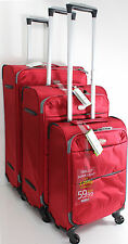 New Set Of 3 Lightweight Suitcase 4 Wheel Spinner Luggage Trolley Case Cabin Bag
