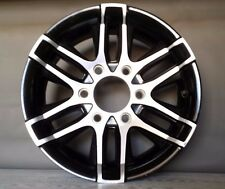 "ALUMINUM TRAILER RIMS 6 LUG BOLT PATTERN 15"" X 6"" BLACK AND SILVER"