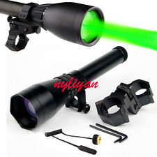 Subzero Green Laser Designator Zoomable W/Scope Mount For Rifle Hunting