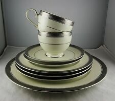 8 Pcs Mikasa Fine China Palatial Platinum L3235: 1 Dinner, 3 Salad, 2 C & S