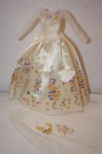 Barbie Disney Cinderella Wedding Day Fashion Outfit Floral Dress Gown with Veil