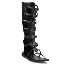 Black Gladiator Roman Julius Caesar Sandals Costume Shoes Mens size 10 11 12 13