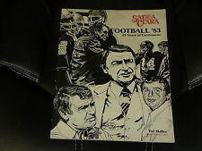 1983 SANTA CLARA COLLEGE FOOTBALL MEDIA GUIDE  EX  BOX 23