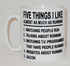 5 Things I Like As Much As Running Mug Can Personalise Five Runner Bacon Gift