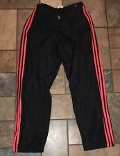 Woman's Adidas Black And Red Pants Size M X 27