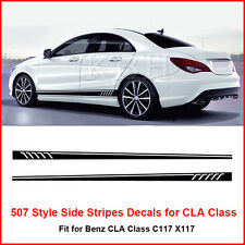 507 Style Side Stripes Sticker for Mercedes Benz W117 C117 X117 CLA 45 AMG Black