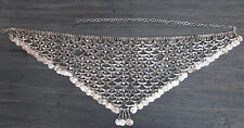 Kuchi Belly dance Jewelry Fashion Coin Belt Ethnic Silver Oxidized Belt vintage