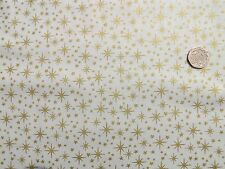 Christmas Gold stars on Cream fabric fq 50x56 cm  100% Cotton Makower MK1504Q