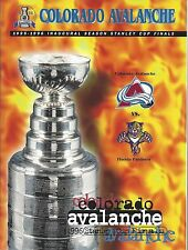 1996 NHL STANLEY CUP FINALS PROGRAM FLORIDA PANTHERS @ COLORADO AVALANCHE - VER2
