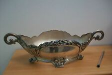 Vintage Art Nouveau French polished pewter jardinaire. Depose #B25 planter pot