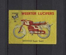 Batavus Super Sport Motorbike/Moped Weerter Vintage Matchbox Label No.26