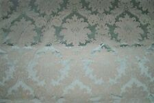 LEE JOFA KRAVET LOTUS MEDALLIONS SATIN DAMASK FABRIC 3 YARD REMNANT MINT CREAM