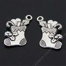 12x Retro Christmas stocking Pendant Charms Beads Dangle Accessories S461T