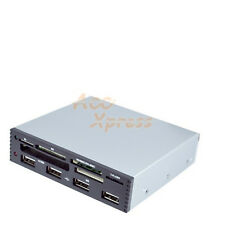 3.5 In Internal Card Reader Writer USB Micro SD SDHC XD M2 CF Power 4 Port HUB