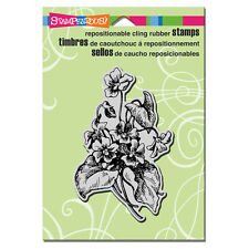 STAMPENDOUS RUBBER STAMPS CLING LOVELY VIOLETS FLOWER STAMP