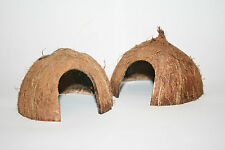 Pollywog Coconut Hut ~ Arched Hole ~ Den Hide Cave Coco Half ~ Shrimp Frog Newt
