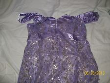 SEXY See-Thru Lace Chemise-Nightgown-Purple - Medium