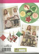 Child's & Misses'Aprons/Potholder/Sachet/Felt Cookies PATTERN~S2492~Cookie