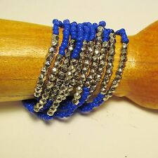 Handmade Seed Bead Faux Silver Beads Roxie Elastic/Stretch Bracelet 9 COLORS!