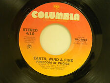 Earth, Wind & Fire 45 FREEDOM OF CHOICE / SPREAD YOUR LOVE ~ VG++