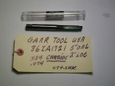 "GARR TOOL - CARBIDE STEP DRILL -NEW  5"" X 2"" LOC, 36ZA1721-6297"