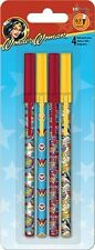 Set of 4 Wonder Woman Stick Pens