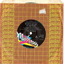 """THE ANGELS - WE GOTTA GET OUT OF THIS PLACE - 7"""" 45 VINYL RECORD 1986"""