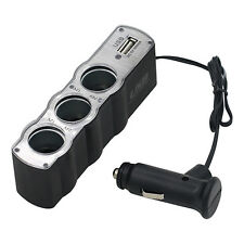 Car Cigarette Lighter Multi Socket Splitter 3 Way USB Charger Adapter Intriguing