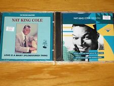 "LOT of 2 NEW SEALED NAT KING COLE CDs - ""NATURE BOY"" & ""LOVE IS A MANY..."""